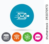 wifi  sms and calendar icons.... | Shutterstock .eps vector #392070973