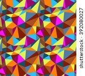 vector polygon seamless pattern ... | Shutterstock .eps vector #392080027