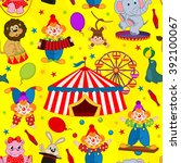 seamless pattern circus with... | Shutterstock .eps vector #392100067