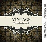 vintage vector background   Shutterstock .eps vector #392102743