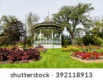 A Beautiful Ornate Gazebo In A...