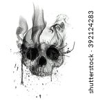 skull print t shirt print an... | Shutterstock . vector #392124283