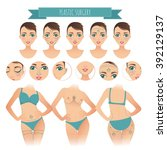 plastic surgery infographics.... | Shutterstock .eps vector #392129137