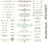 vector set of ornate... | Shutterstock .eps vector #392143657