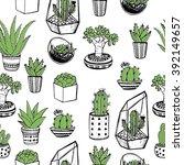 hand drawn seamless pattern... | Shutterstock .eps vector #392149657