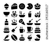 food vector icons 13 | Shutterstock .eps vector #392160517