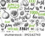 seamless vector hand drawn... | Shutterstock .eps vector #392162743