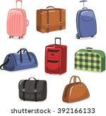 travel luggage cartoon set | Shutterstock .eps vector #392166133