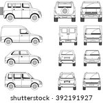 cars. black and white. | Shutterstock .eps vector #392191927