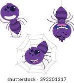 fun spider cartoon set 1 | Shutterstock .eps vector #392201317