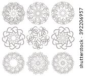 ornamental abstract floral... | Shutterstock . vector #392206957