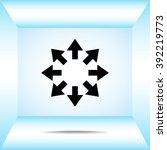 arrows sign icon  vector... | Shutterstock .eps vector #392219773