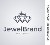 sparkling diamonds icon. logo... | Shutterstock .eps vector #392240917