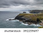 Cliff  Sea And Clouds