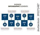 business infographics vector... | Shutterstock .eps vector #392271487