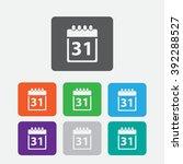 calendar icon vector... | Shutterstock .eps vector #392288527