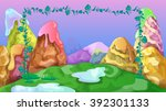 bright kids game background... | Shutterstock .eps vector #392301133