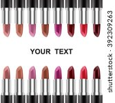 set of color lipsticks. red... | Shutterstock .eps vector #392309263
