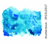 watercolor blue background ...   Shutterstock .eps vector #392312017