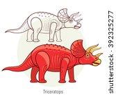Постер, плакат: Triceratops Ancient jurassic reptile
