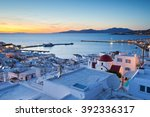 View Of Mykonos Town And Tinos...