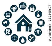 smart house design | Shutterstock .eps vector #392345677