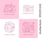 vector trendy flat cleaning... | Shutterstock .eps vector #392351143