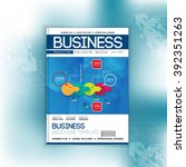 layout cover business magazine  ... | Shutterstock .eps vector #392351263