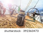Постер, плакат: Sailing boat winch with