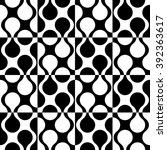 seamless curved shape pattern.... | Shutterstock .eps vector #392363617