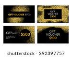 gift voucher or gift... | Shutterstock .eps vector #392397757
