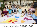 academic school children... | Shutterstock . vector #392401843