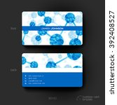 business card vector template...   Shutterstock .eps vector #392408527