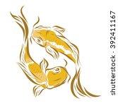 vector image of an carp koi on... | Shutterstock .eps vector #392411167