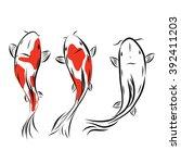vector image of an carp koi on... | Shutterstock .eps vector #392411203