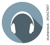 headphone icon | Shutterstock .eps vector #392417857