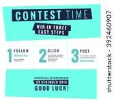 Social Media Contest Vector...
