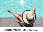 Beautiful Woman Sunbathing By...