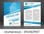 abstract vector modern flyers... | Shutterstock .eps vector #392463907
