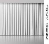 vector white curtain | Shutterstock .eps vector #392485813