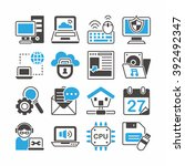 computer and internet icons set | Shutterstock .eps vector #392492347
