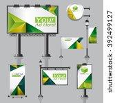 vector outdoor advertising... | Shutterstock .eps vector #392499127
