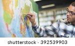teacher teach teaching... | Shutterstock . vector #392539903