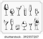 hand drawn sketch set of... | Shutterstock .eps vector #392557207