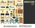 medical big collection in flat... | Shutterstock .eps vector #392582323