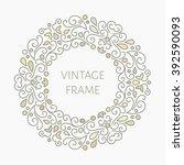 elegant retro varicolored... | Shutterstock . vector #392590093