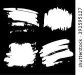 set of grunge hand drawn white... | Shutterstock .eps vector #392595127