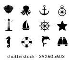 marine  sea  ocean icon set.  | Shutterstock . vector #392605603