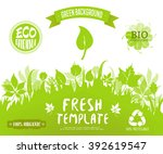 100  organic  eco friendly  ... | Shutterstock .eps vector #392619547
