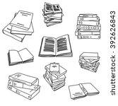 Books Sketch Doodle...